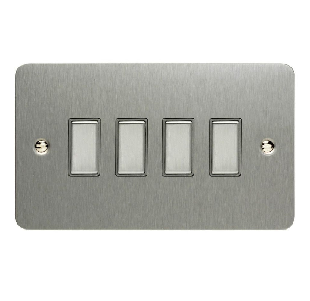 Varilight JFSES004 | Brushed Steel Ultraflat Dimmer Switch