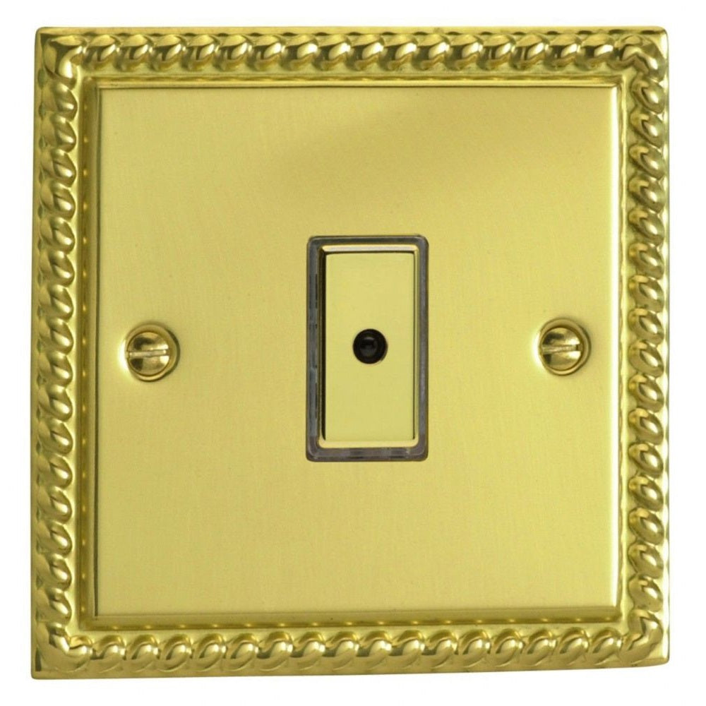 Varilight JGE101 | Georgian Brass Classic Dimmer Switch