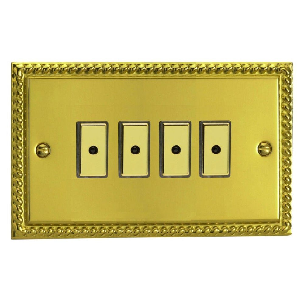 Varilight JGE104 | Georgian Brass Classic Dimmer Switch