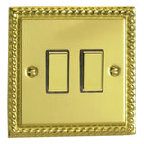 Varilight JGES002 | Georgian Brass Classic Dimmer Switch