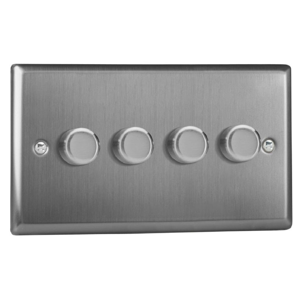 Varilight JTDP254 | Brushed Steel Classic Dimmer Switch