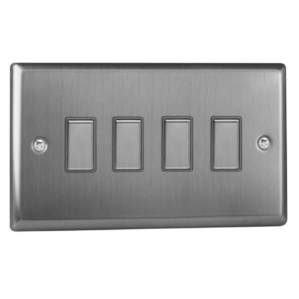 Varilight JTES004 | Brushed Steel Classic Dimmer Switch