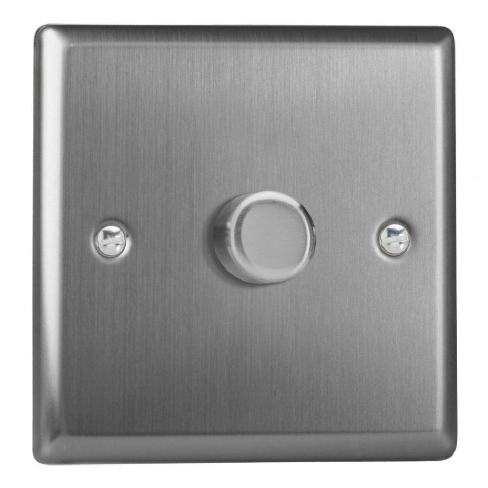 Varilight JTP401 | Brushed Steel Classic Dimmer Switch