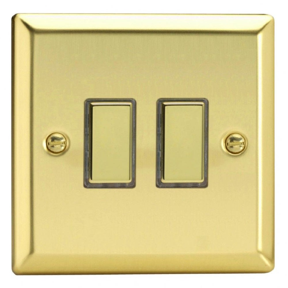 Varilight JVES002 | Victorian Brass Classic Dimmer Switch