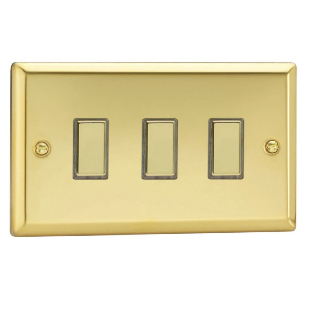 Varilight JVES003 | Victorian Brass Classic Dimmer Switch