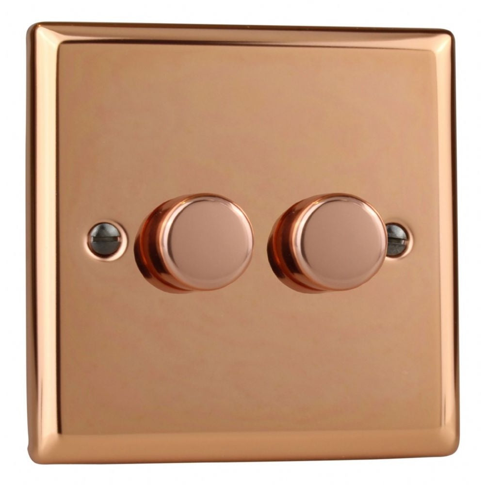 Varilight JYP252.CU | Polished Copper Urban Dimmer Switch | JYP252CU