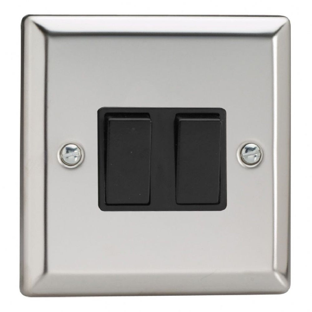 Varilight XC71B | Mirror Chrome Classic Intermediate Switch