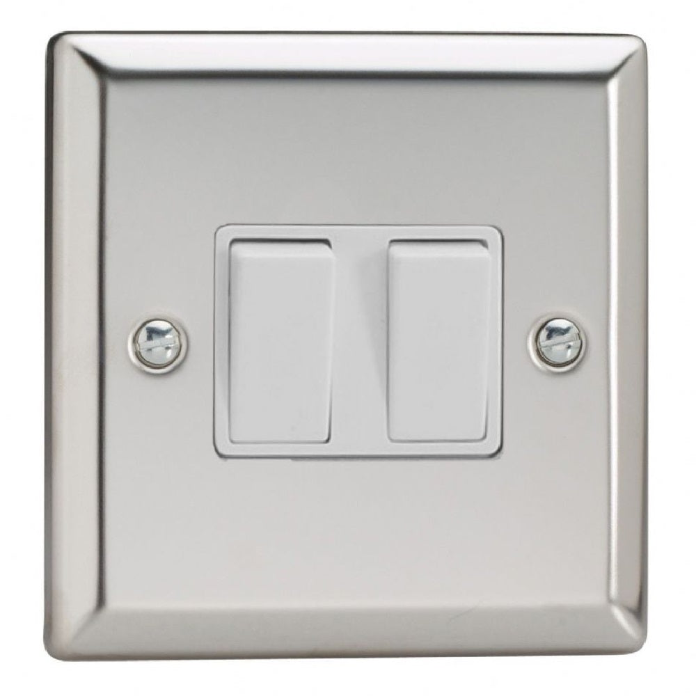 Varilight XC77W | Mirror Chrome Classic Intermediate Switch