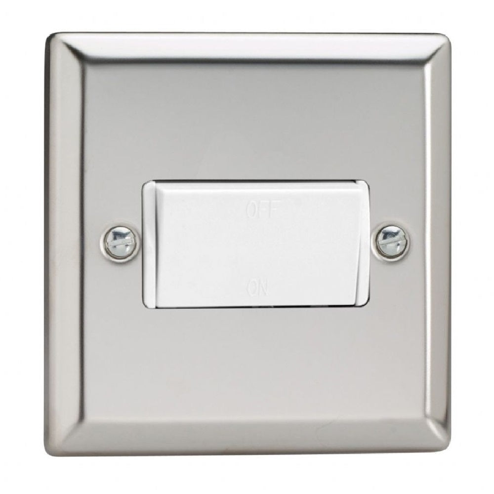 Varilight XCFIW | Mirror Chrome Classic Fan Isolating Switch
