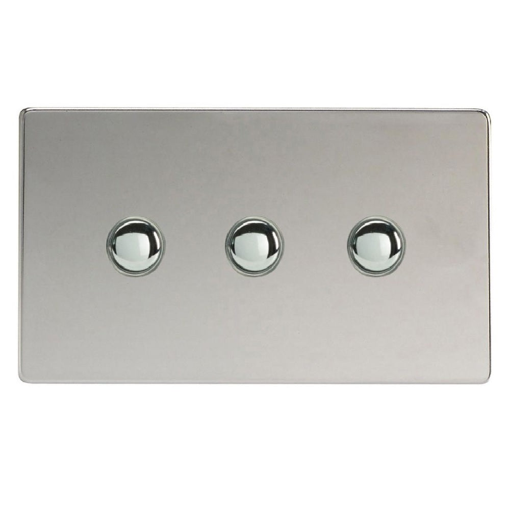 Varilight XDCM3S | Polished Chrome Screwless Momentary Switch