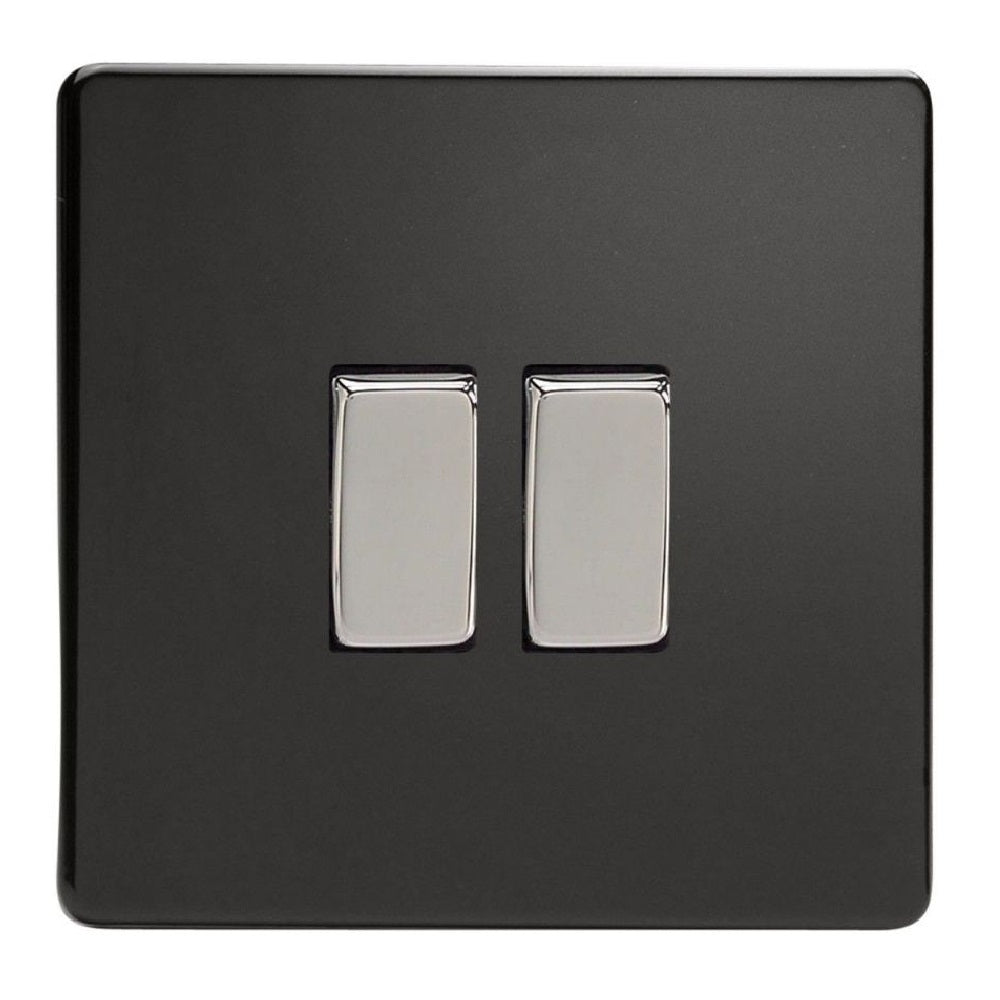 Varilight XDL77S | Premium Black Screwless Intermediate Switch