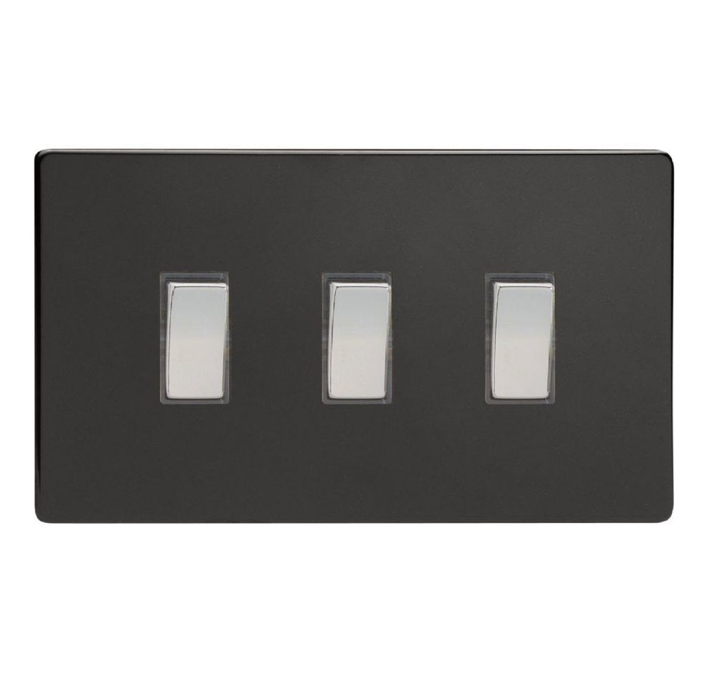 Varilight XDL93S | Premium Black Screwless Rocker Switch