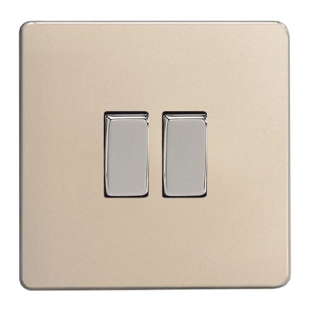 Varilight XDN71S | Satin Chrome Screwless Intermediate Switch