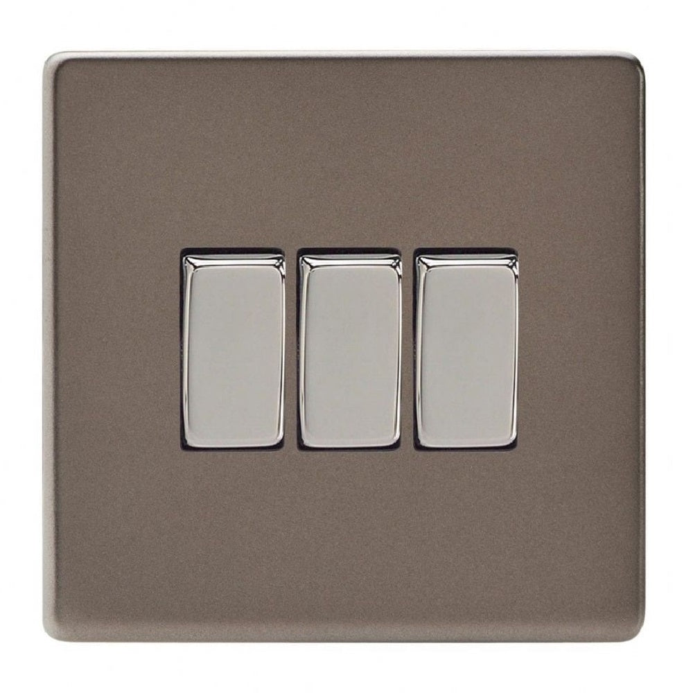 Varilight XDR3S | Pewter Screwless Rocker Switch