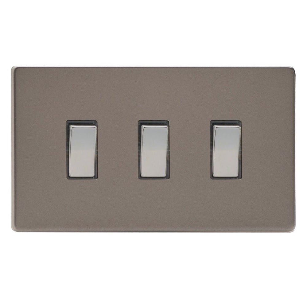 Varilight XDR93S | Pewter Screwless Rocker Switch