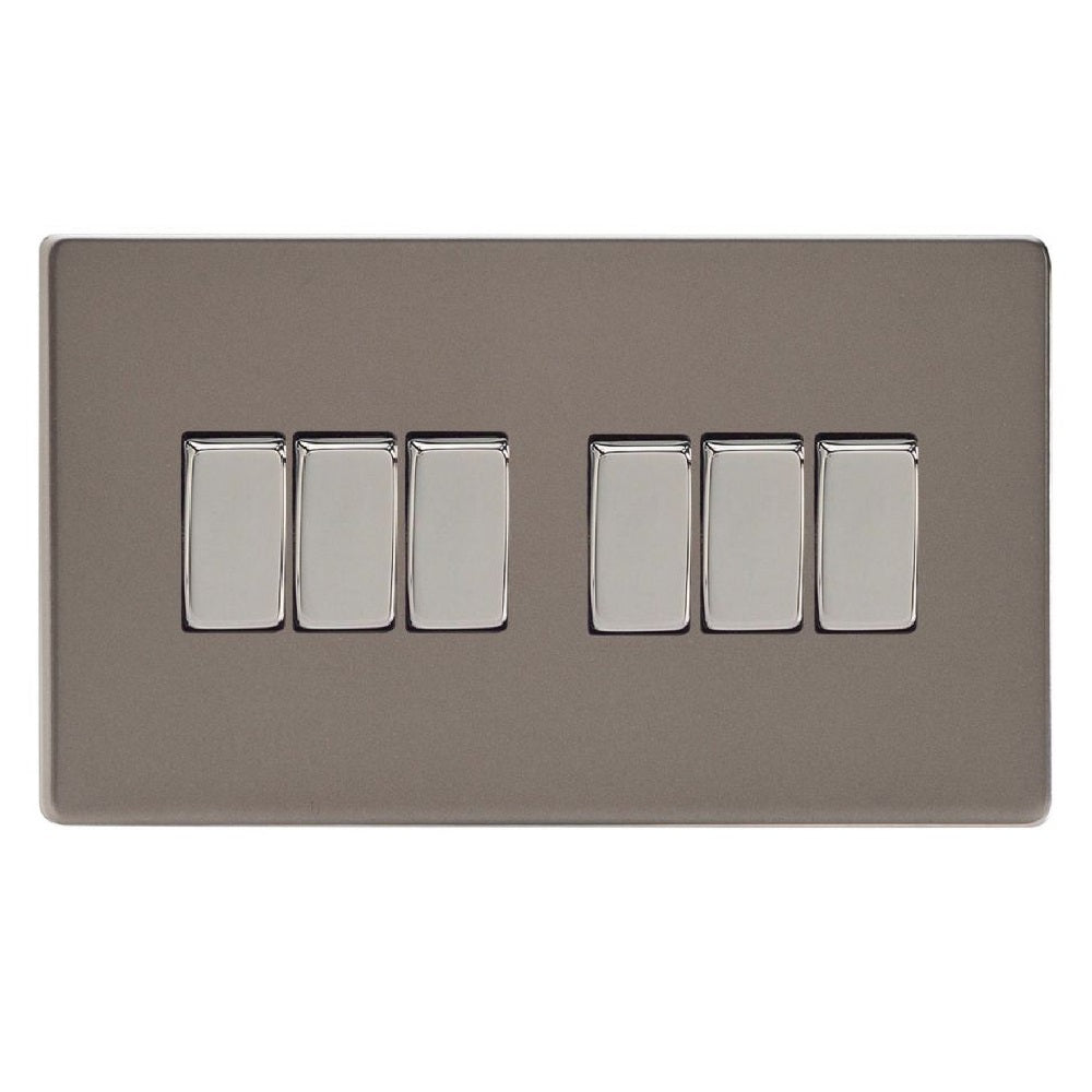 Varilight XDR96S | Pewter Screwless Rocker Switch