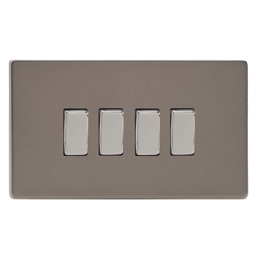 Varilight XDR9S | Pewter Screwless Rocker Switch