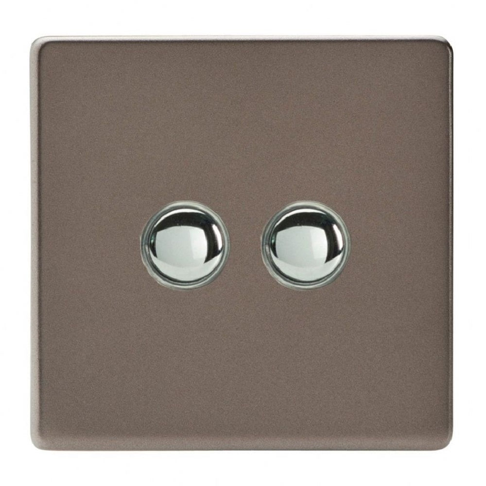 Varilight XDRM2S | Pewter Screwless Momentary Switch