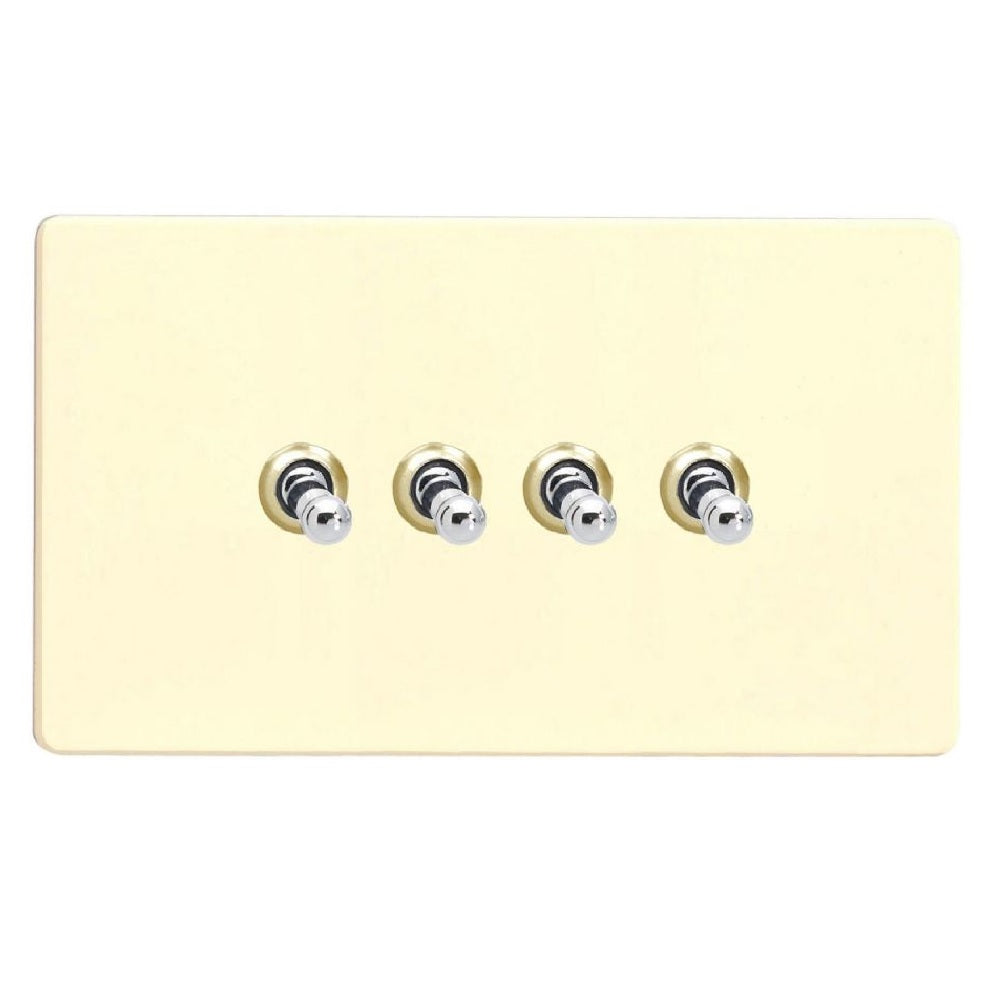 Varilight XDWT9S | White Chocolate Screwless Toggle Switch