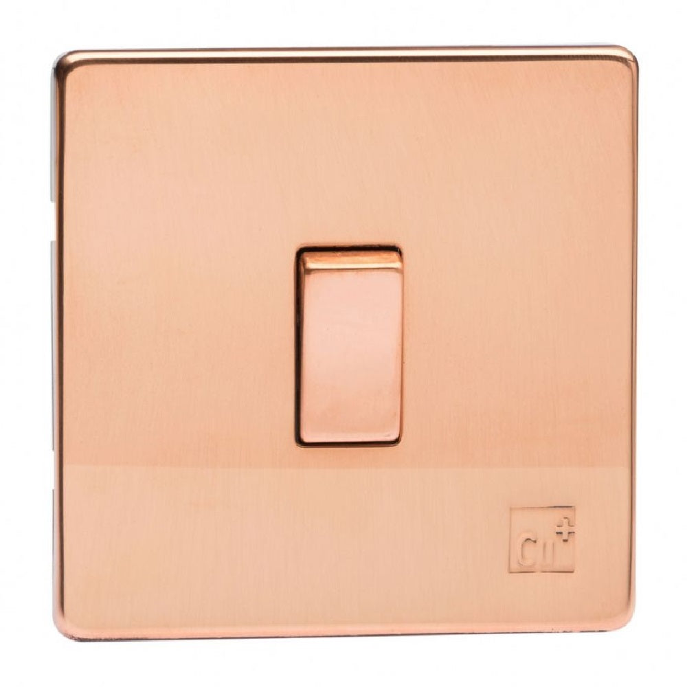 Varilight XDY1S.AC | Antimicrobial Copper Screwless Rocker Switch | XDY1SAC
