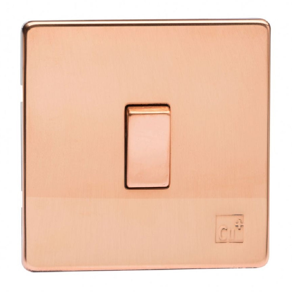 Varilight XDY7S.AC | Antimicrobial Copper Screwless Intermediate Switch | XDY7SAC