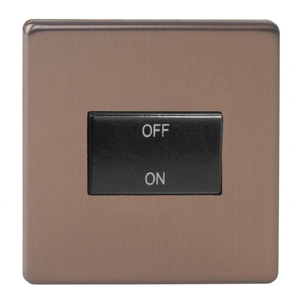 Varilight XDYFIBS.BZ | Brushed Bronze Screwless Fan Isolating Switch | XDYFIBSBZ