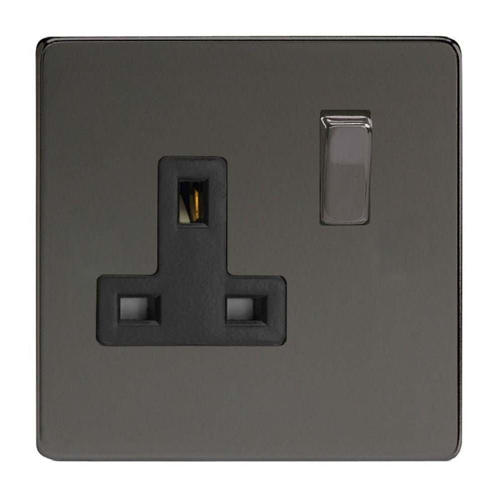 Varilight XDi4BS | Iridium Black Screwless Double Pole Socket