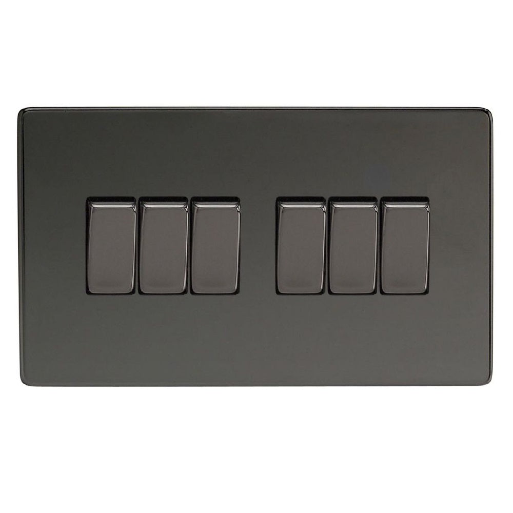 Varilight XDi96S | Iridium Black Screwless Rocker Switch