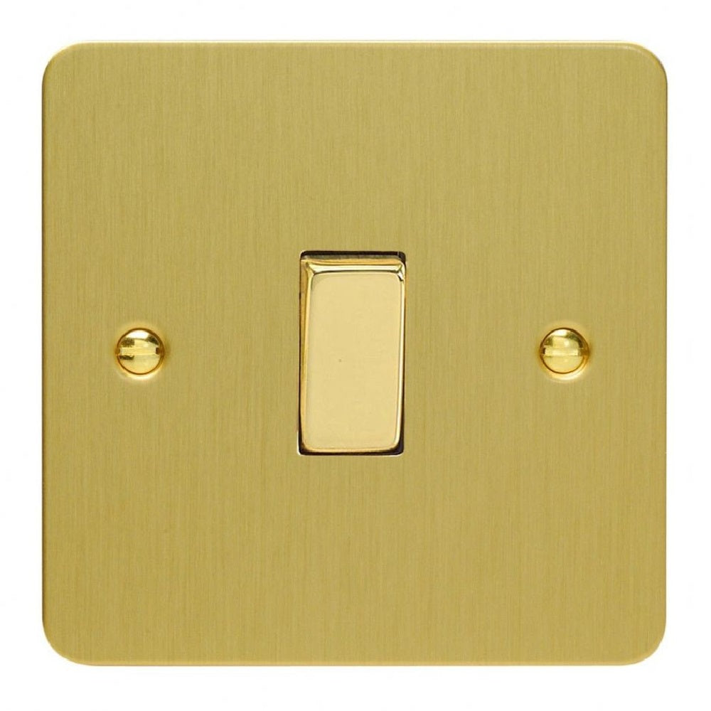 Varilight XFB1D | Brushed Brass Ultraflat Rocker Switch