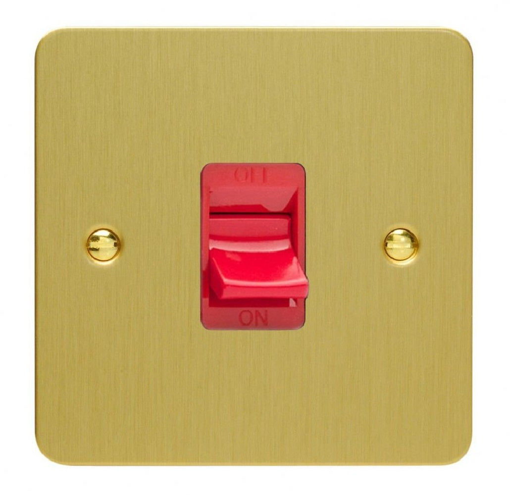 Varilight XFB45S | Brushed Brass Ultraflat Cooker Switch