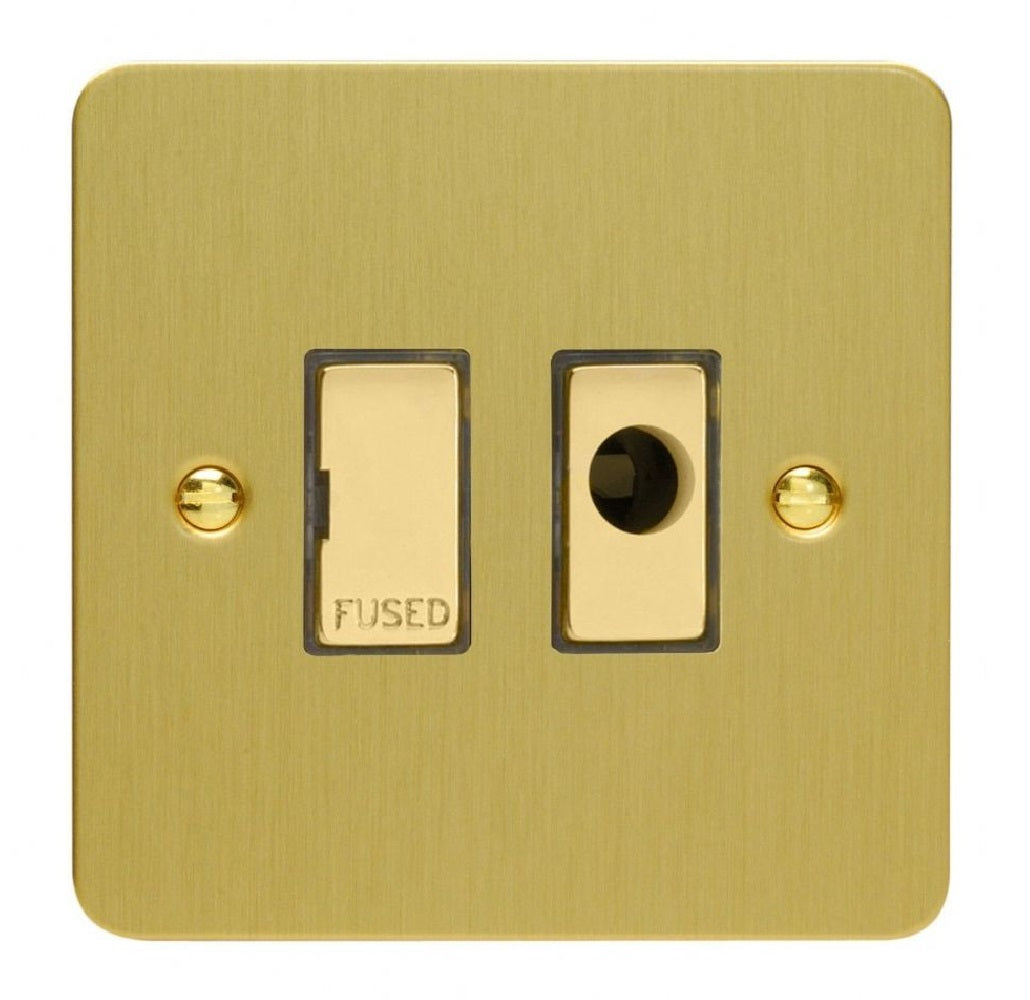 Varilight XFB6UFOD | Brushed Brass Ultraflat Unswitched Fused Spur
