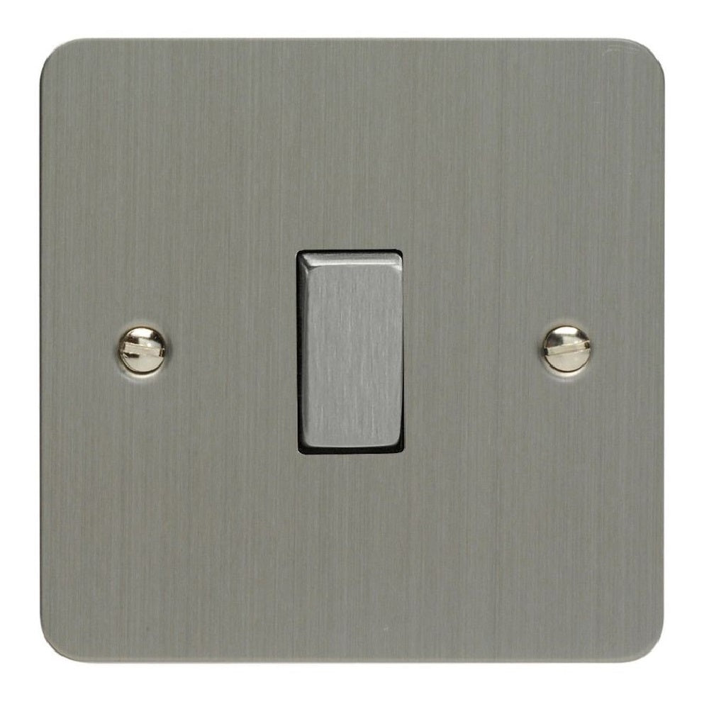 Varilight XFS1D | Brushed Steel Ultraflat Rocker Switch