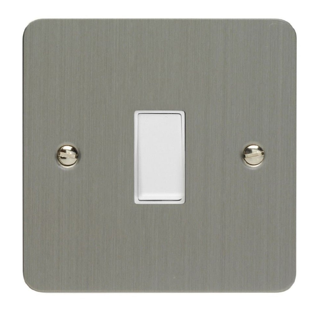 Varilight XFSBPW | Brushed Steel Ultraflat Retractive Switch