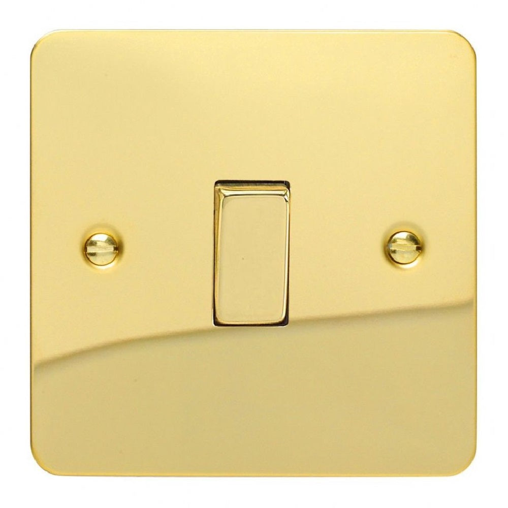 Varilight XFV1D | Polished Brass Ultraflat Rocker Switch