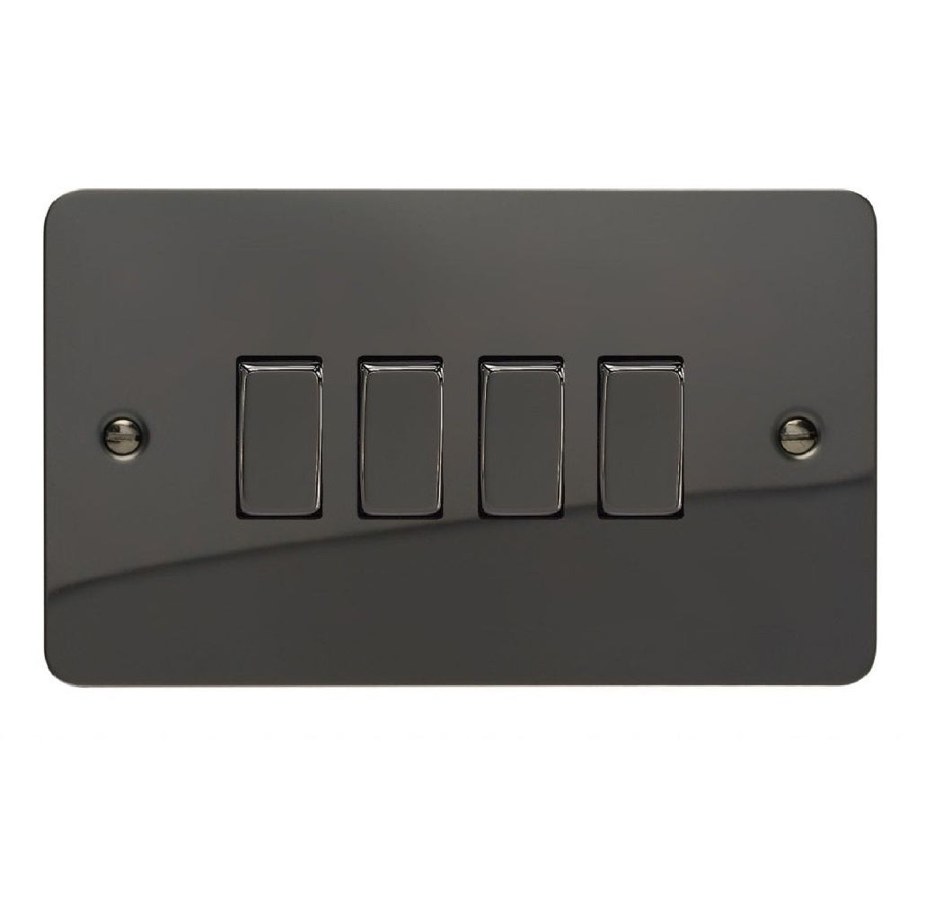 Varilight XFi9D | Iridium Black Ultraflat Rocker Switch