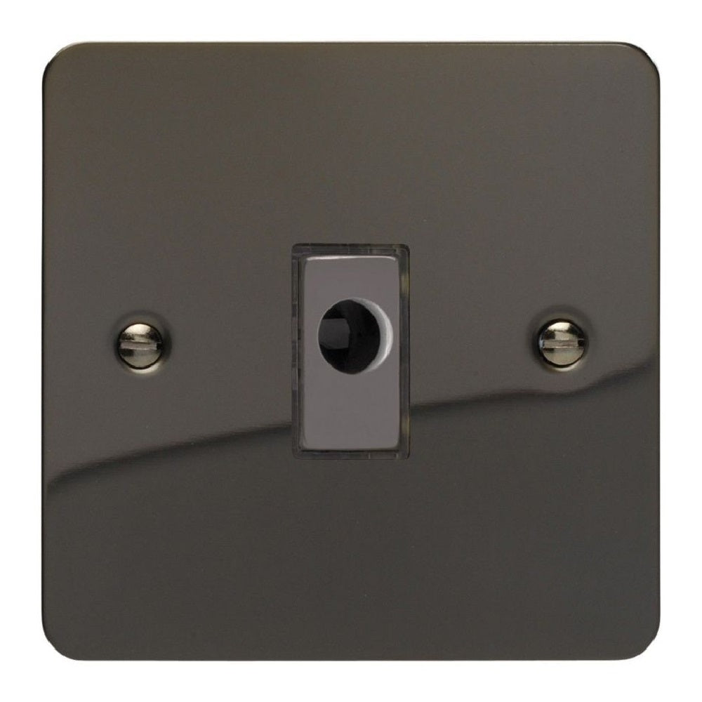Varilight XFiFOD | Iridium Black Ultraflat Flex Outlet Plate