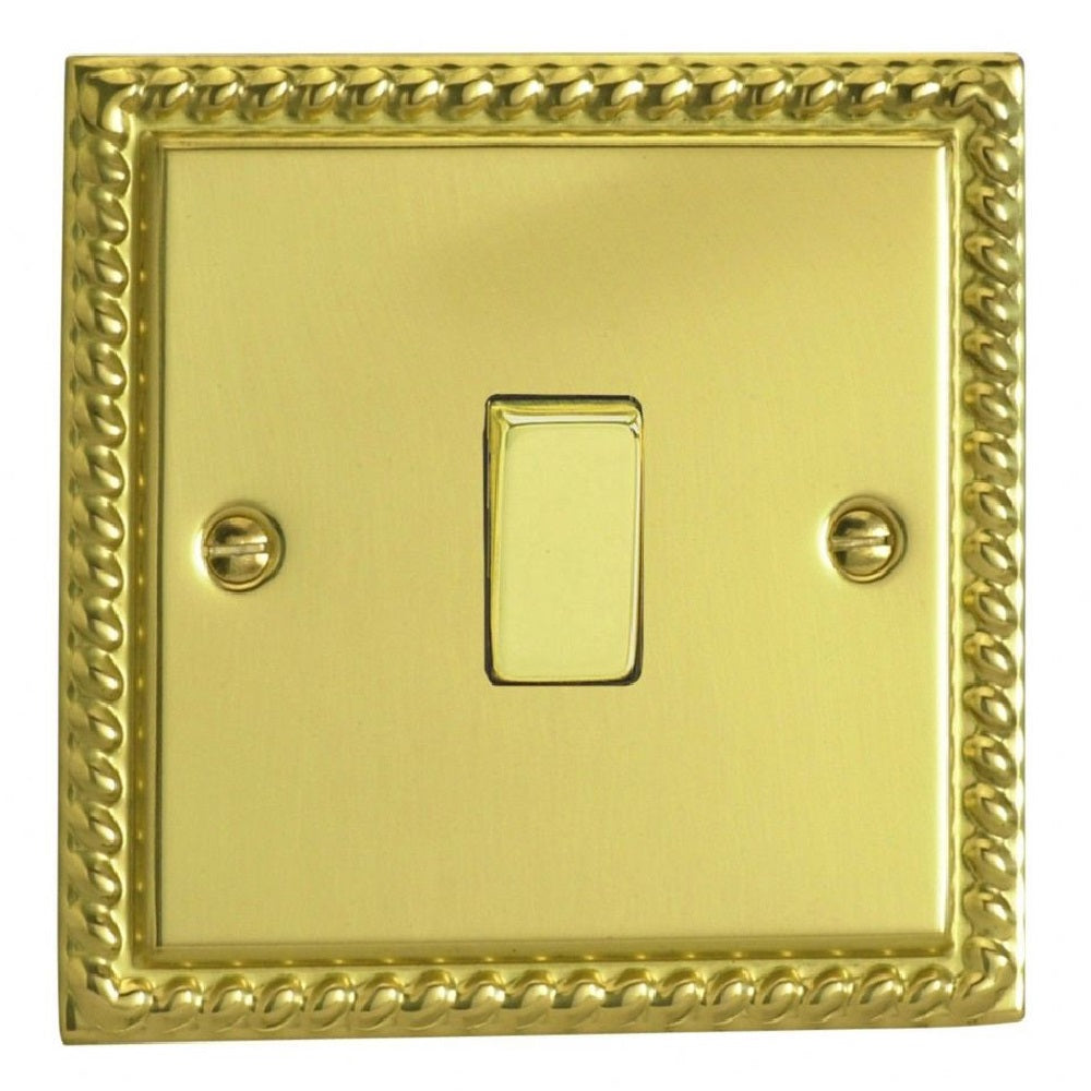 Varilight XG1D | Georgian Brass Classic Rocker Switch