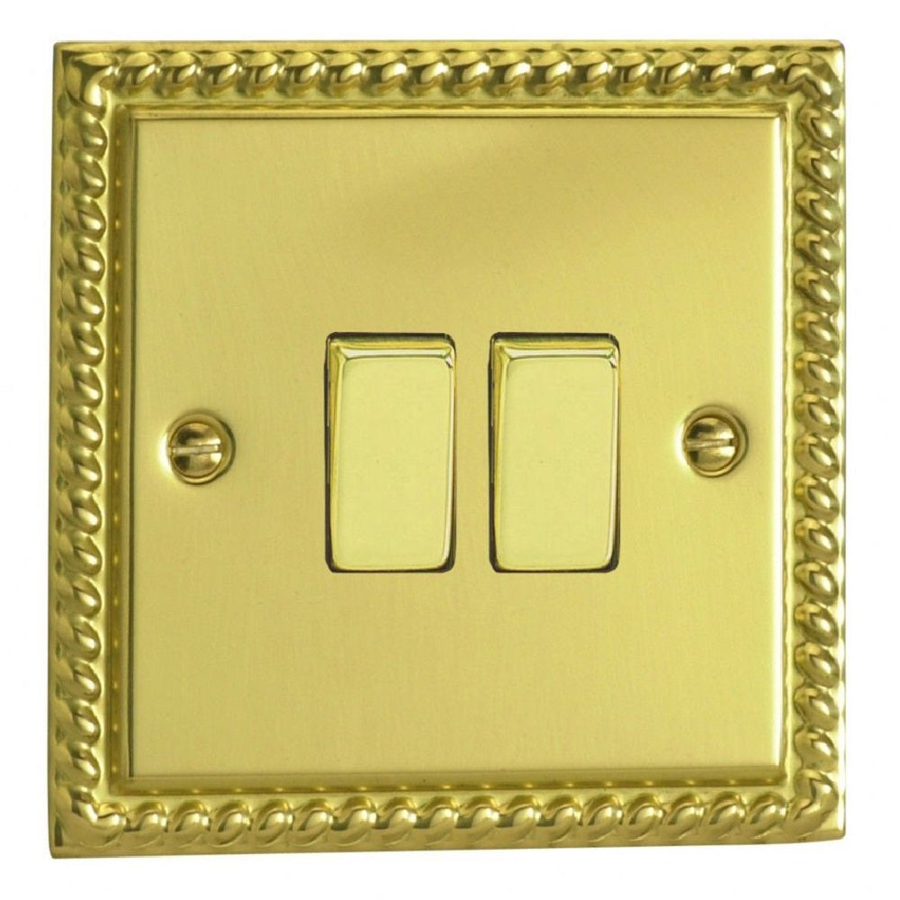 Varilight XG71D | Georgian Brass Classic Intermediate Switch