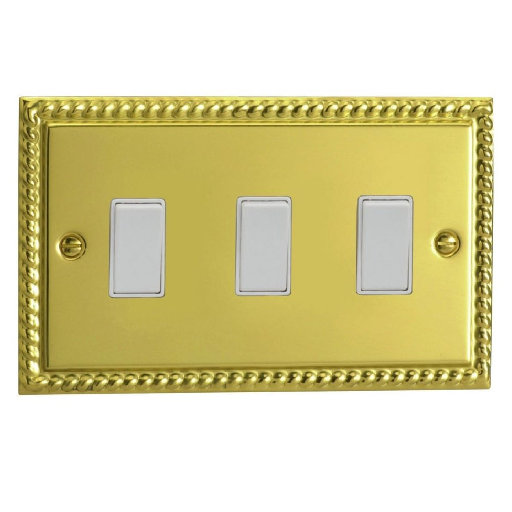 Varilight XG93W | Georgian Brass Classic Rocker Switch