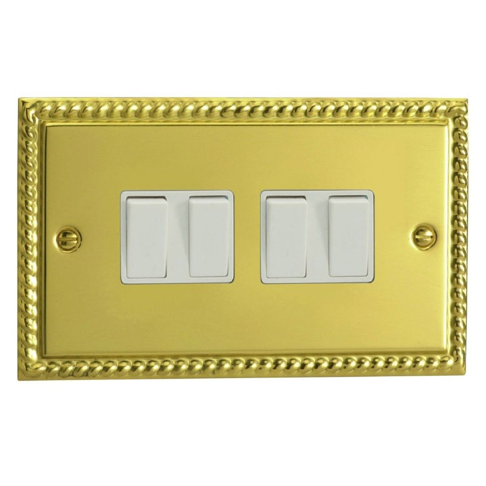 Varilight XG9W | Georgian Brass Classic Rocker Switch
