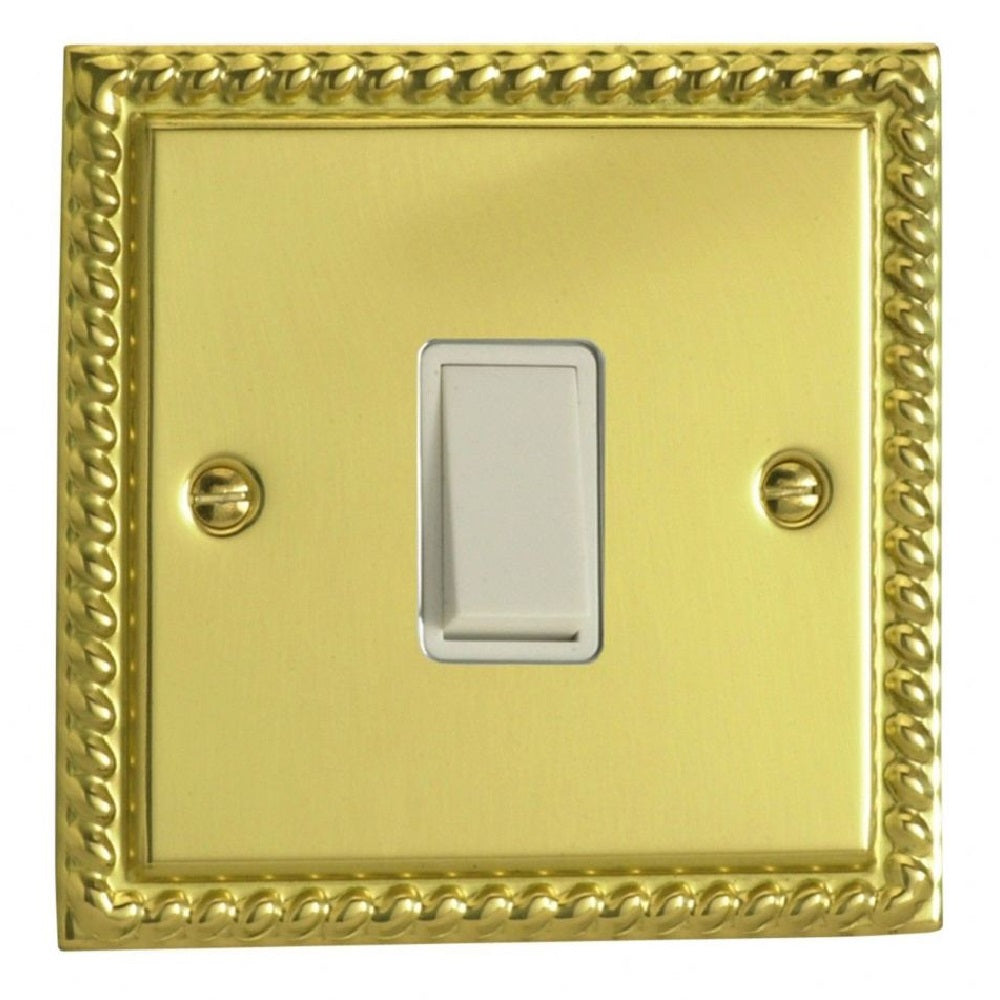 Varilight XGBPW | Georgian Brass Classic Retractive Switch