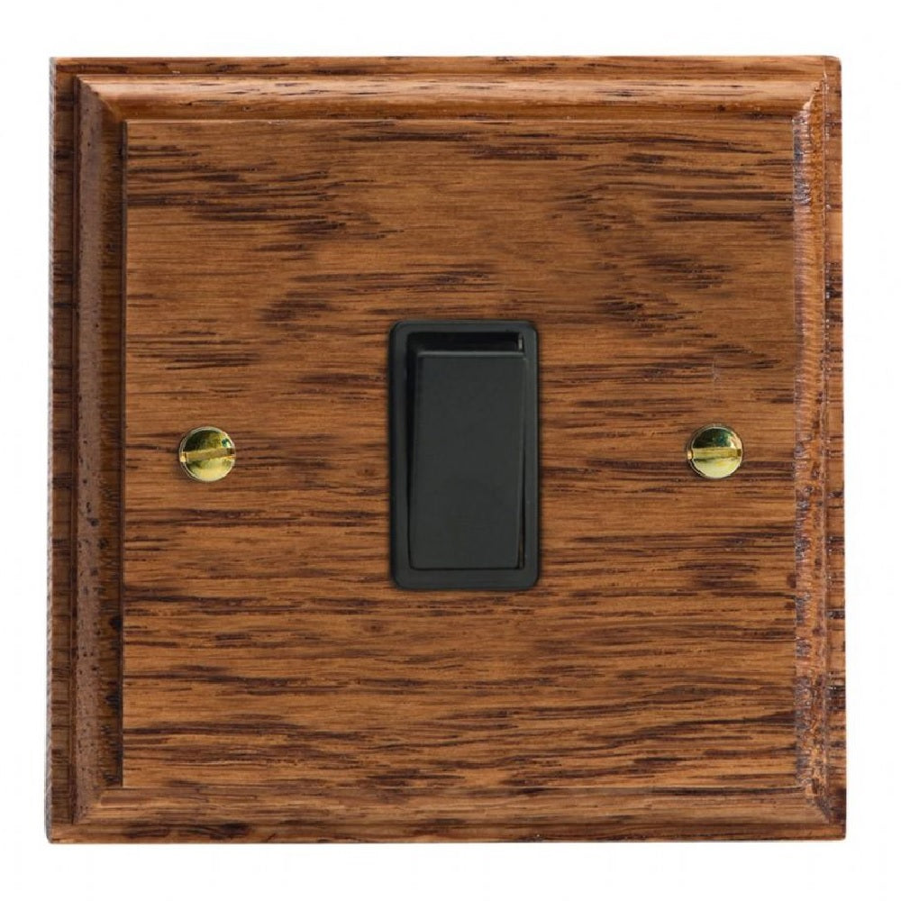 Varilight XK1MOB | Medium Oak Kilnwood Rocker Switch