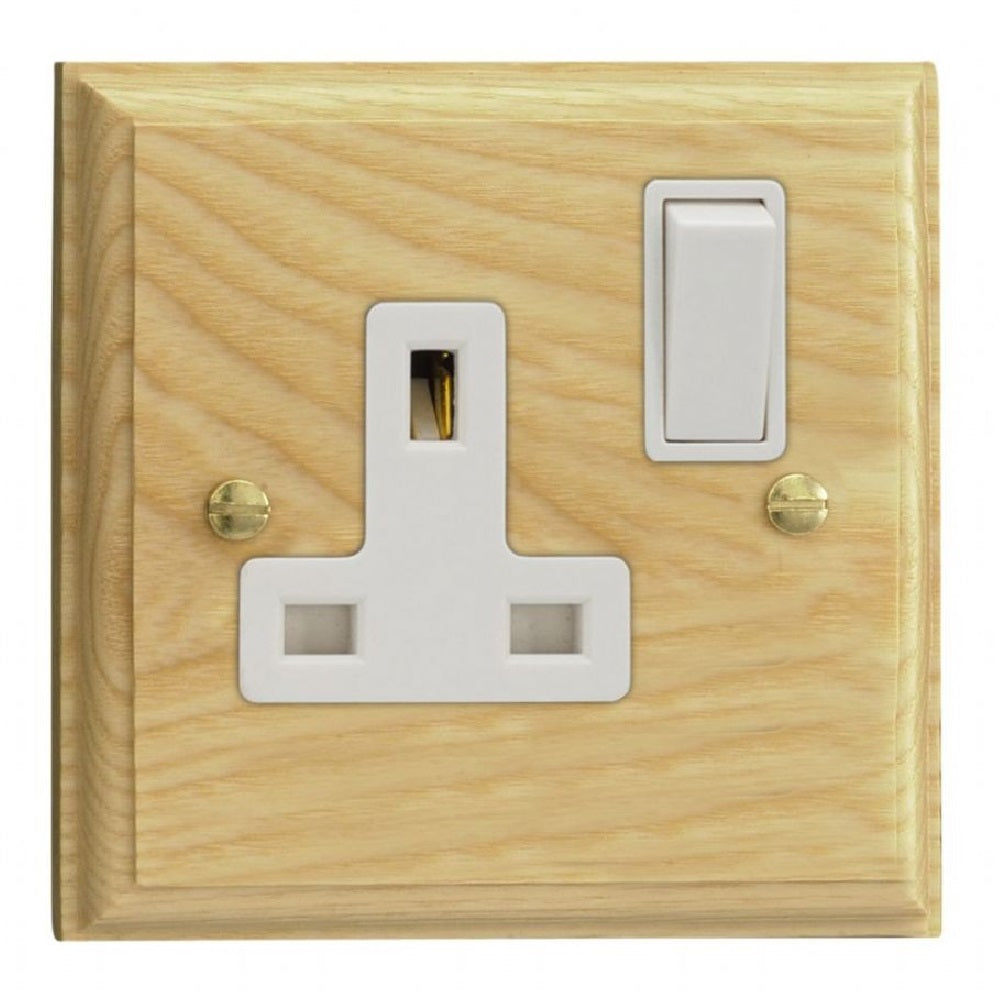 Varilight XK4AW | Ash Kilnwood Double Pole Socket