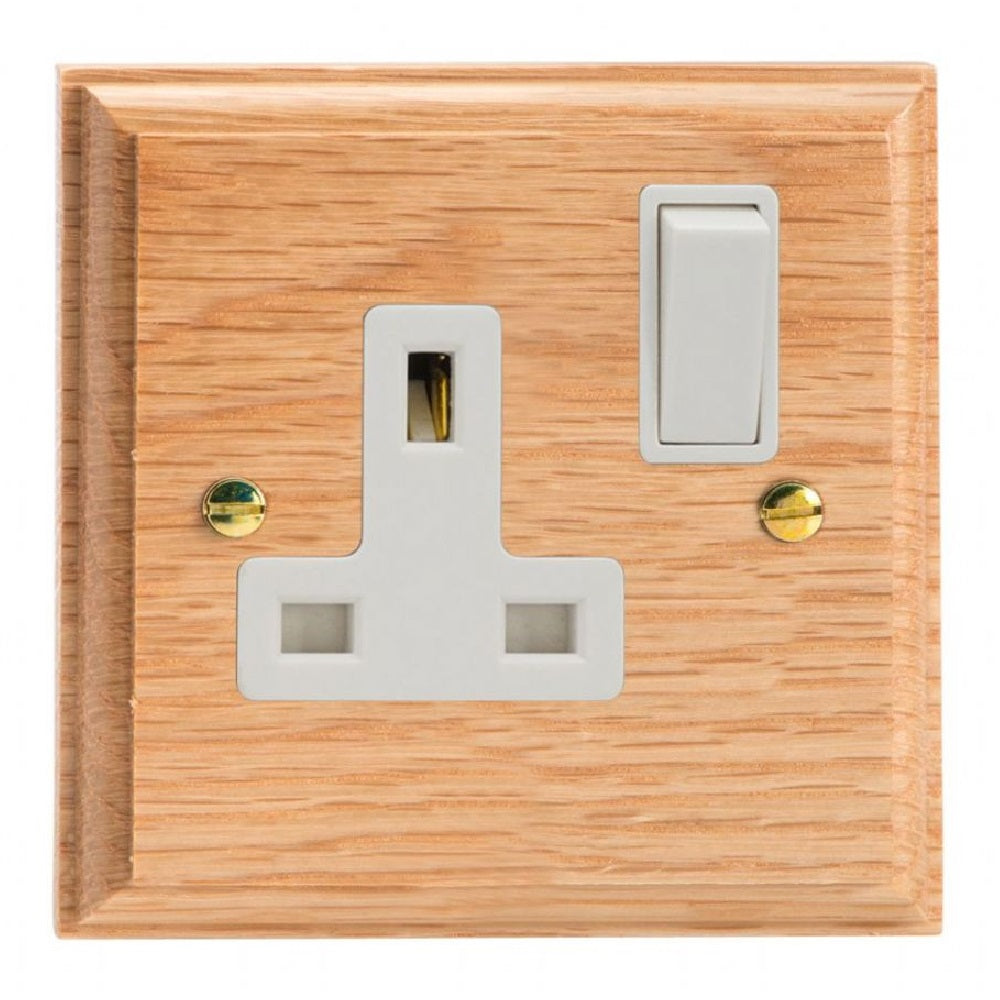 Varilight XK4OW | Light Oak Kilnwood Double Pole Socket
