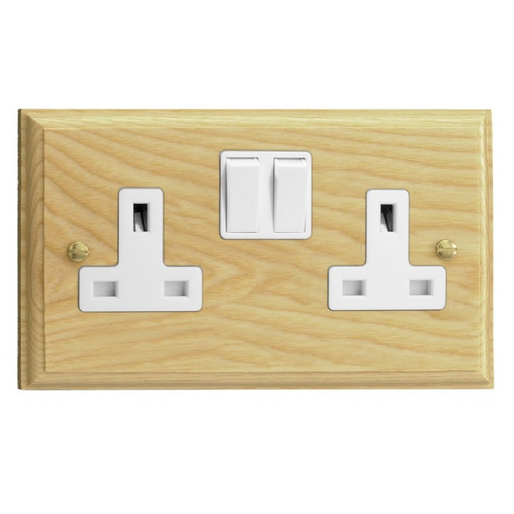 Varilight XK5AW | Ash Kilnwood Double Pole Socket