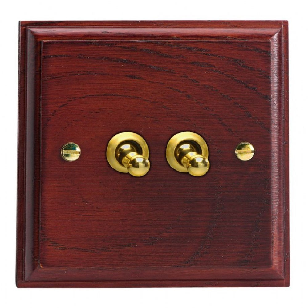 Varilight XKT2M | Mahogany Kilnwood Toggle Switch