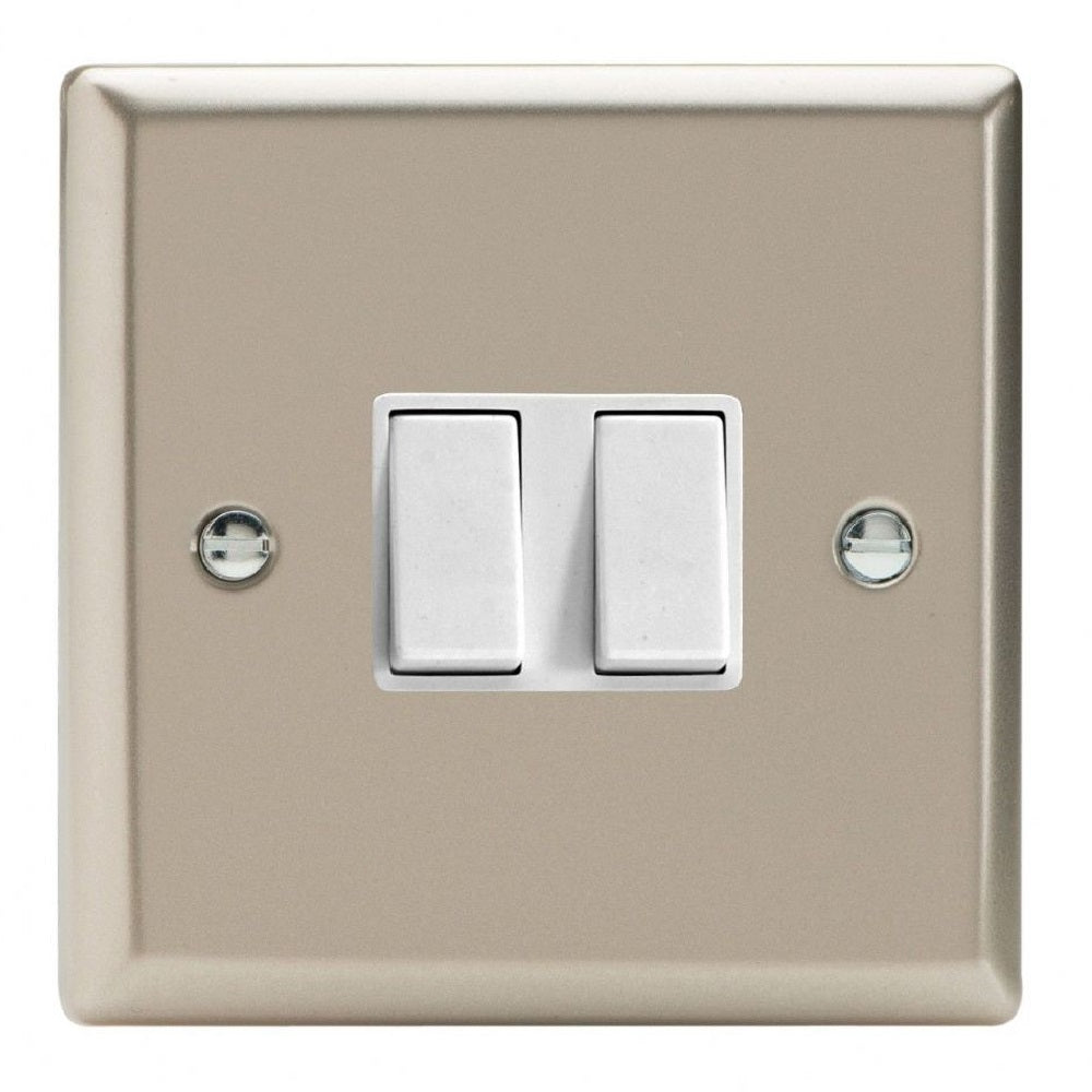 Varilight XN2W | Satin Chrome Classic Rocker Switch