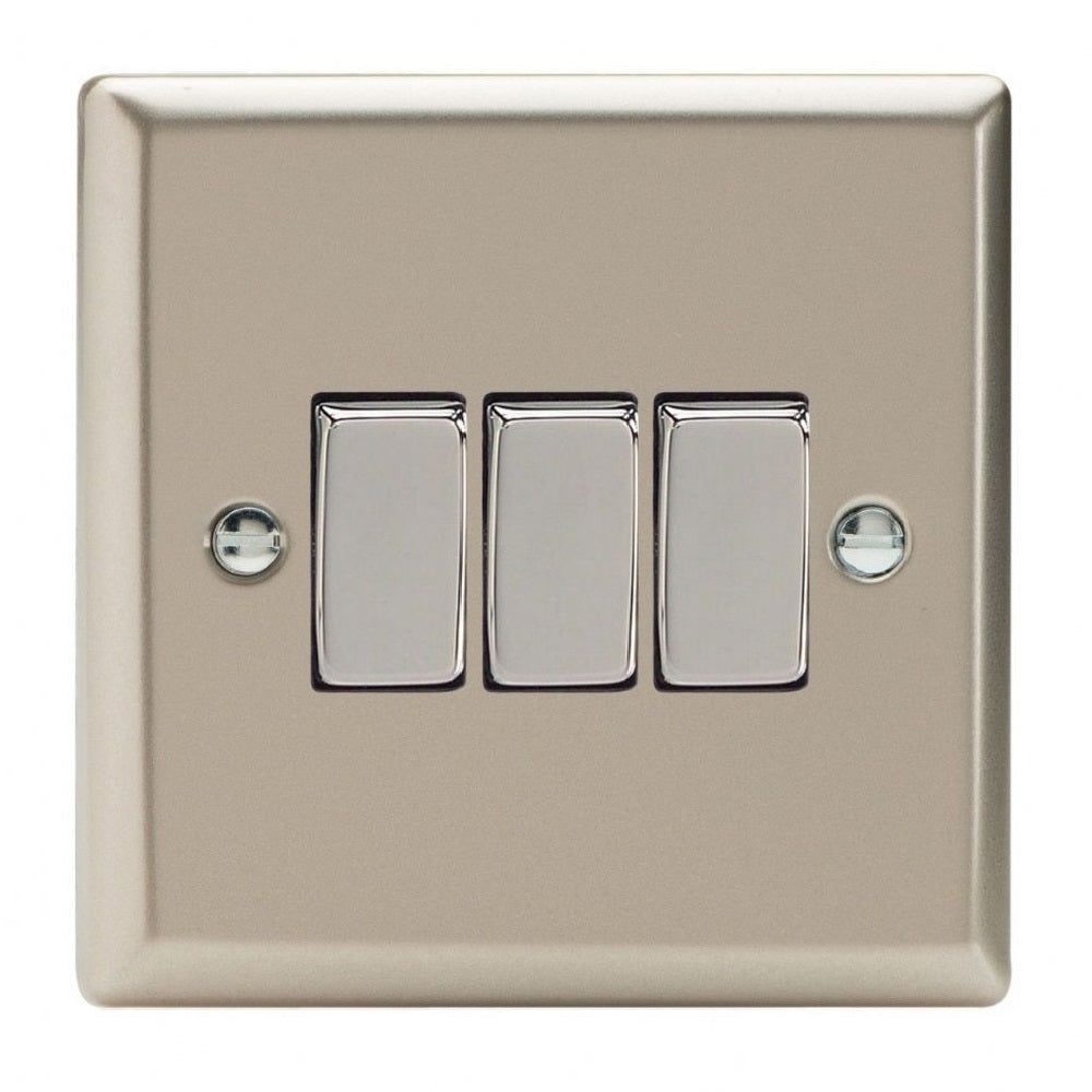 Varilight XN3D | Satin Chrome Classic Rocker Switch