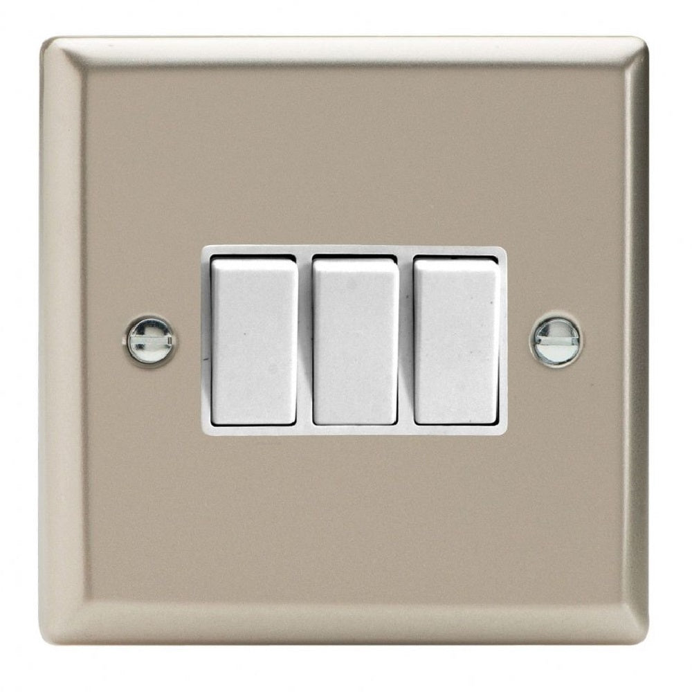 Varilight XN3W | Satin Chrome Classic Rocker Switch