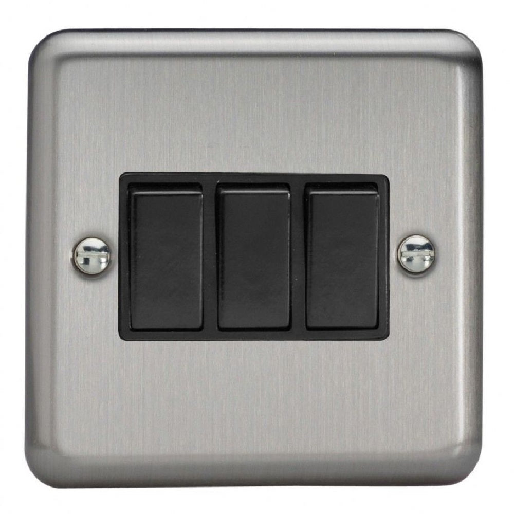 Varilight XS3B | Matt Chrome Rocker Switch
